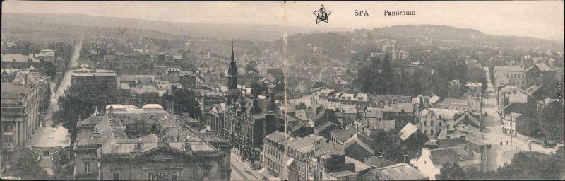 Spa (Stadt) Spa (kêr) (Spå / Spâ)  Klappkarte b Lüttich Liege  1916