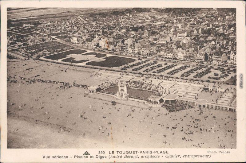 Le Touquet-Paris-Plage Luftbild Strand Paris Plage CPA Nord pas de Calais 1933