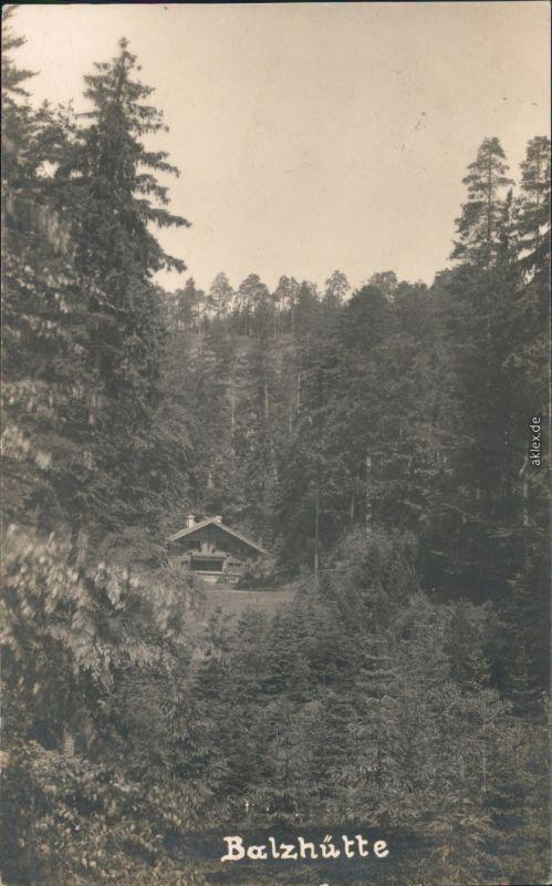 Dittersbach (Böhm. Schweiz) Jetřichovice Blick auf die Balzhütte 1927