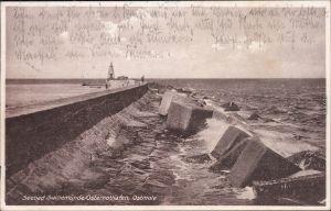 Osternothafen Ostswine Swinemünde Warszów Świnoujście Partie an der Mole 1927