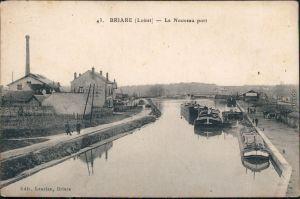 Briare Briare-le-Canal Hafen/Le Nouveau Port CPA Ansichtskarte  1913