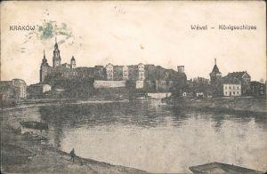 Krakau Kraków Wawel - Königsschloss 1914