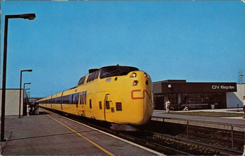 Kingston Eisenbahn: VIA-CN turbo - Montreal Route 1976