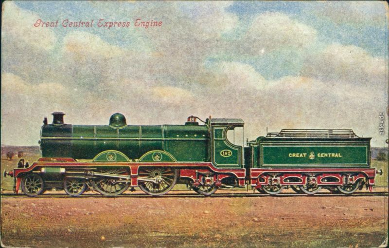 Great Central Express Engine/  Eisenbahn: großer Zentral-Express-Motor 1900