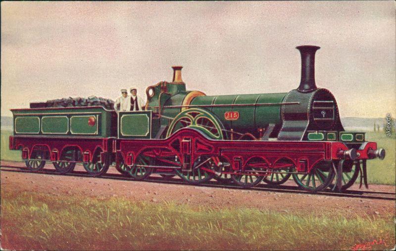 englische Eisenbahn: Midland Railway LPC/20 G.N. 4-2-2 No. 215 1900