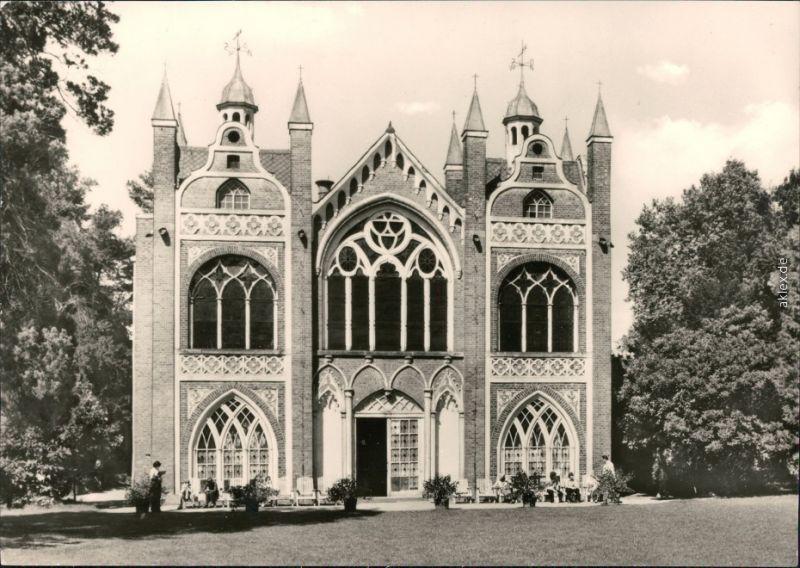 Wörlitz-Oranienbaum-Wörlitz Wörlitzer Park: Gotisches Haus,Gartenseite 1981