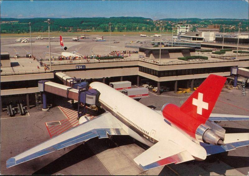 Zürich Flughafen Ansichtskarte 1994