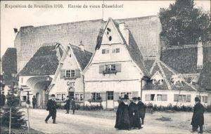 Brüssel Bruxelles Exposition - Entree du vieux Düsseldorf 1910