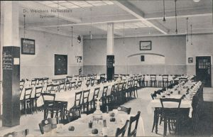 Görbersdorf in Schlesien Sokołowsko DR. Weickerts Heilanstalt Speiseraum 1910