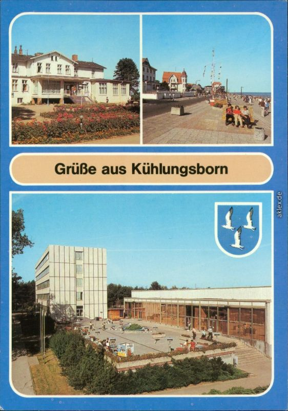 Kühlungsborn Ostsee-Hotel - Reisebüro der DDR, Strandpromenade,   1988
