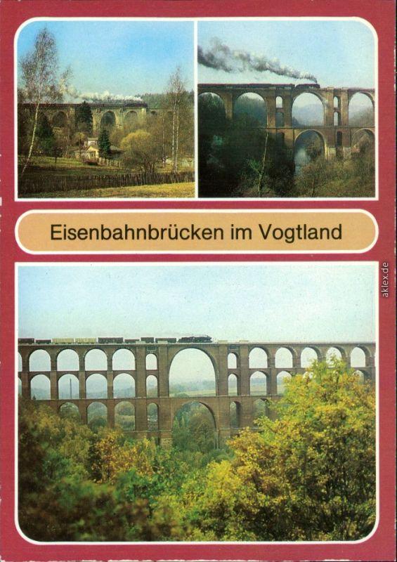 Netzschkau (Vogtland) Syratalbrücke, Elstertalbrücke, Göltzschtalbrücke 1984