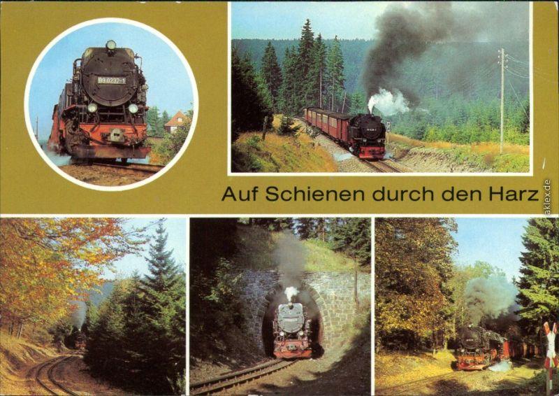 Harzquerbahn, auf Schienen durch den Harz Ansichtskarte Bild Heimat DDR 1986