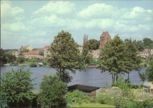 Lychen Panorama-Ansicht: Blick über den Stadtsee 1986