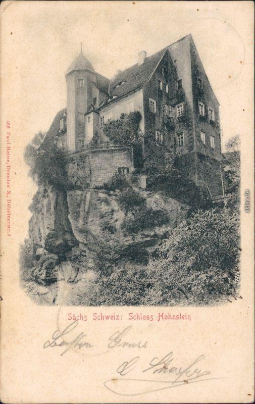 Hohnstein (Sächs. Schweiz) Schloss Hohnstein Ansichtskarte g1904