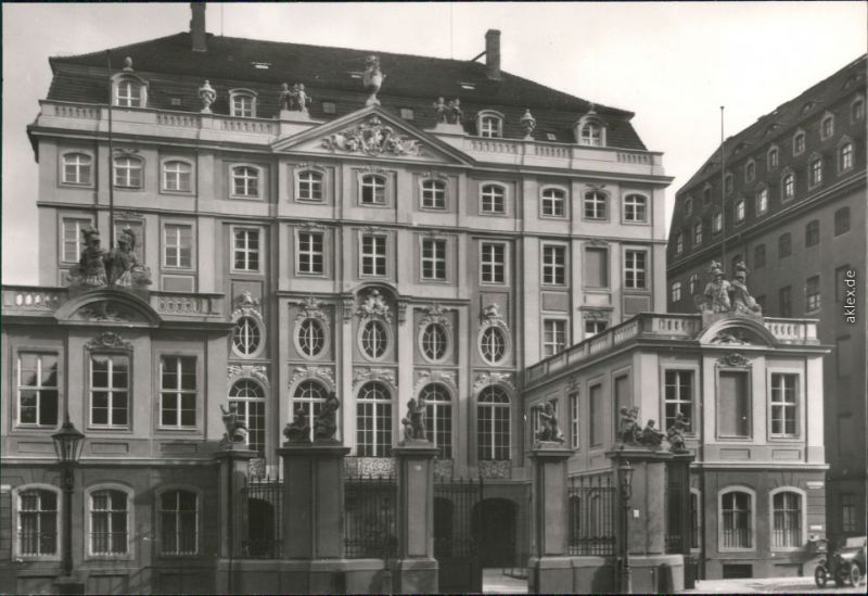 Innere Altstadt Dresden Cosel-Palais Fotokarte  1945/1981