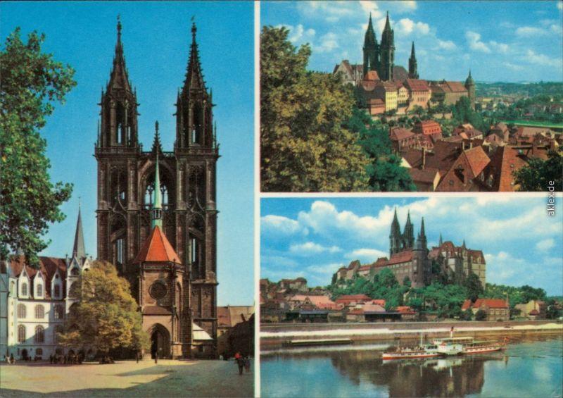 Meißen Dom und Albrechtsburg Ansichtskarte  1980