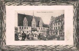 Meißen Reges treiben auf dem Marktplatz  1912 Passepartout