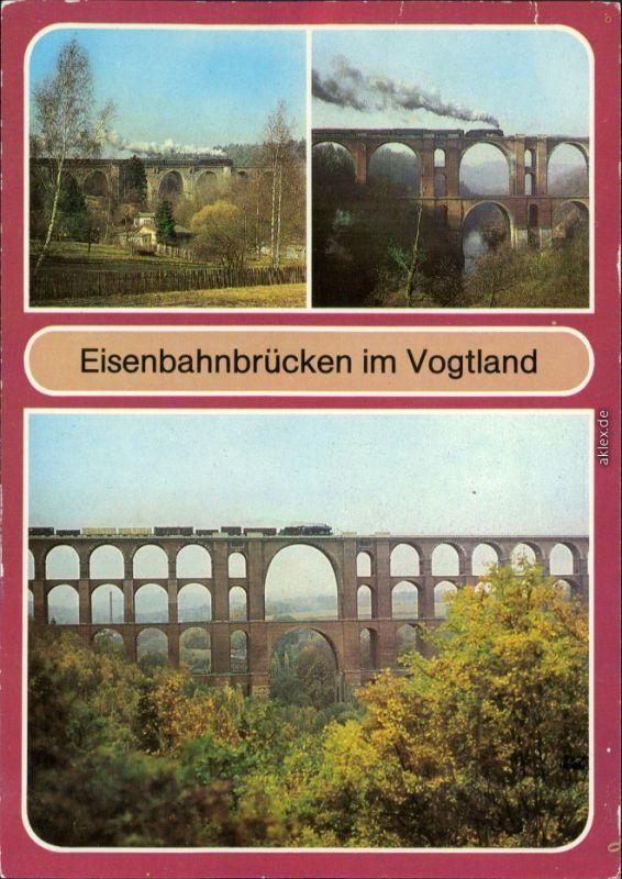 Netzschkau (Vogtland) Syratalbrücke, Elstertalbrücke, 1984