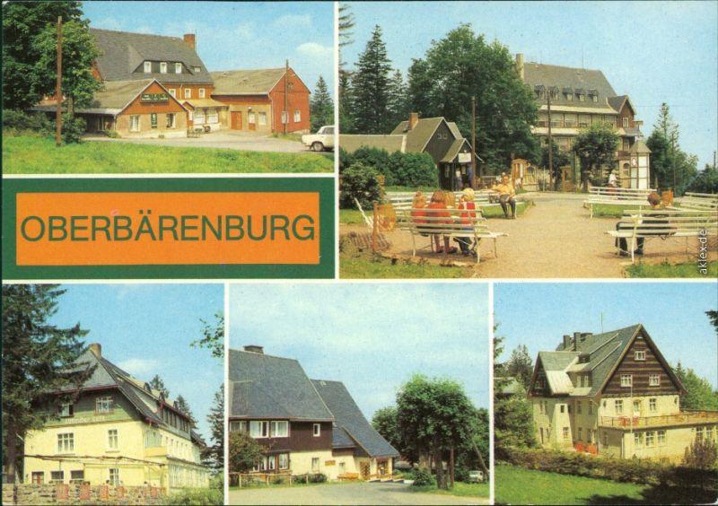 Oberbärenburg Altenberg Erzgebirge HO-Hotel Gaststätte FDGB-Erholungsheim  1982