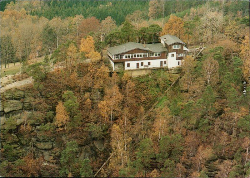 Weißig Struppen (Sächsische Schweiz) Luftbild Berggaststätte