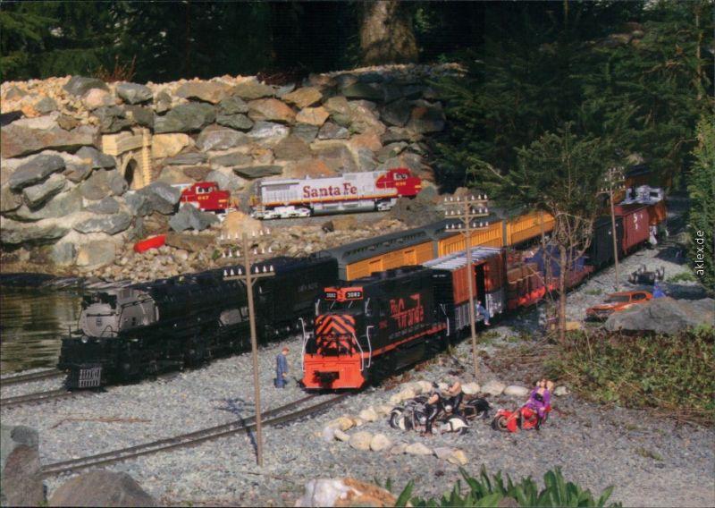 Modelleisenbahn: Gartenbahn im US-amerikanischen Stil 1987