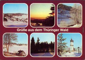 Thüringer Wald Winterliche Szene -   aus dem Thüringer Wald 1983