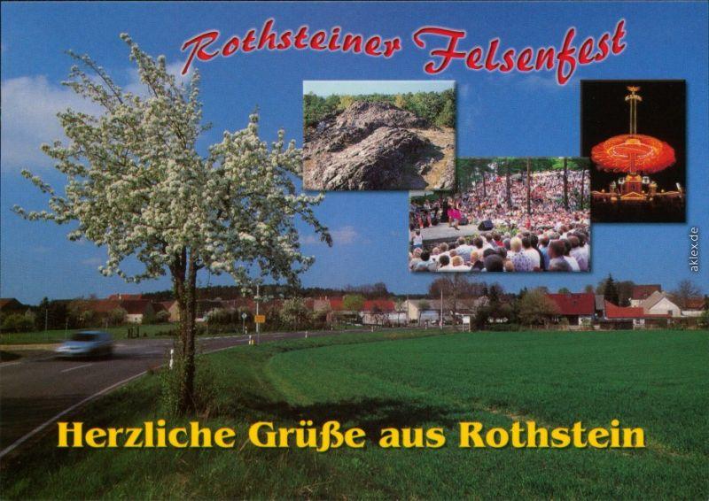 Rothstein Uebigau Wahrenbrück Blick zur Stadt - an der Hauptstraße  002