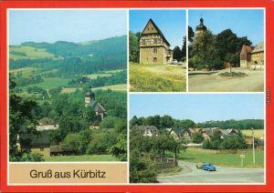 Kürbitz Weischlitz (Vogtland) Blick zur Salvatorkirche Teilansicht 1989