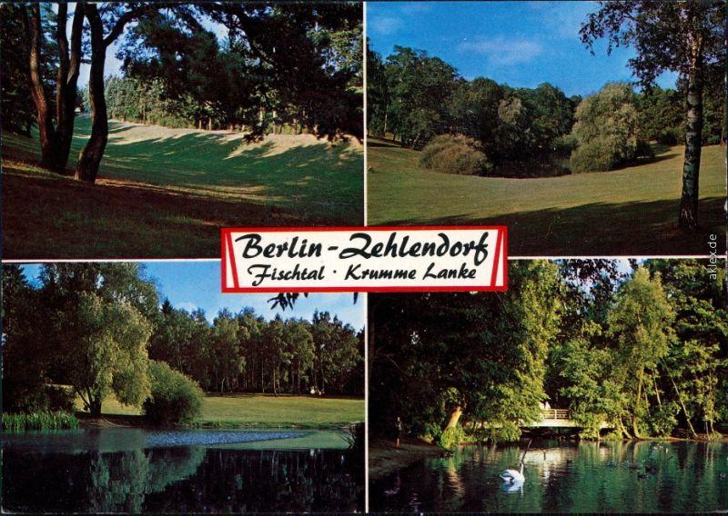 Zehlendorf Berlin Krumme Lanke Ansichtskarte 1986