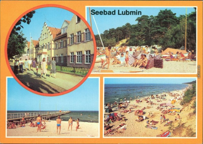 Lubmin Seebad Lubmin, Strand Ansichtskarte  1981