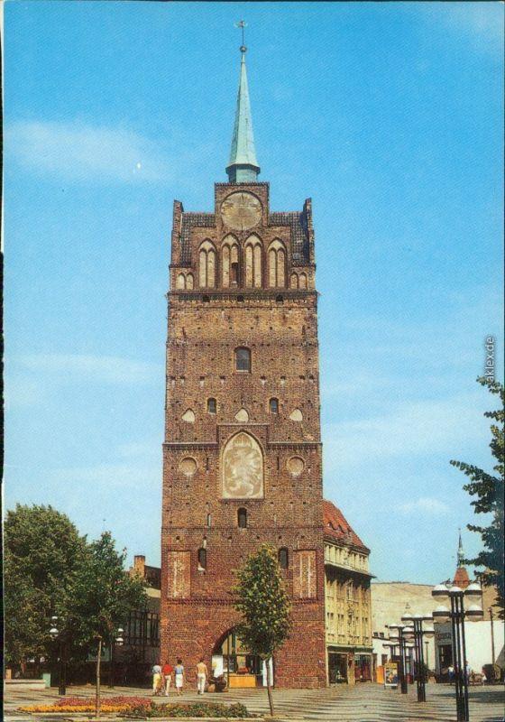 Rostock Kröpeliner Tor  Ansichtskarte  1989