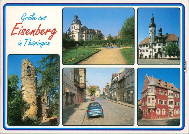 Eisenberg (Thüringen) Schloss, rathaus, Heimattiergarten  Superintendentur 1990