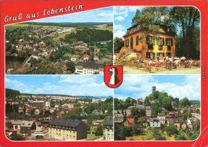 Lobenstein Teilansicht (2), Parkpavillon, Blick zum Alten Turm 1995