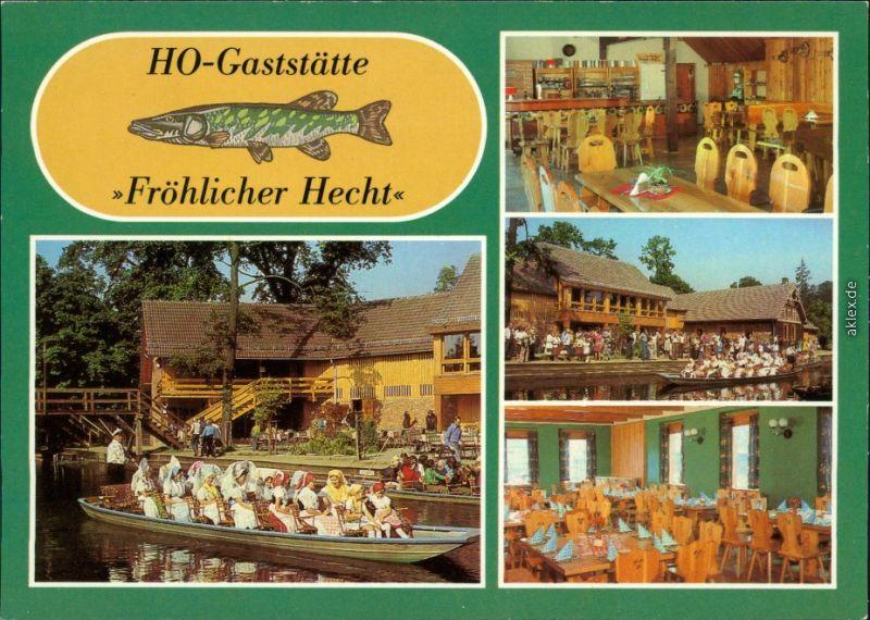 Lehde (Spreewald)-Lübbenau (Spreewald) Lědy Lubnjow Gasthaus  1984