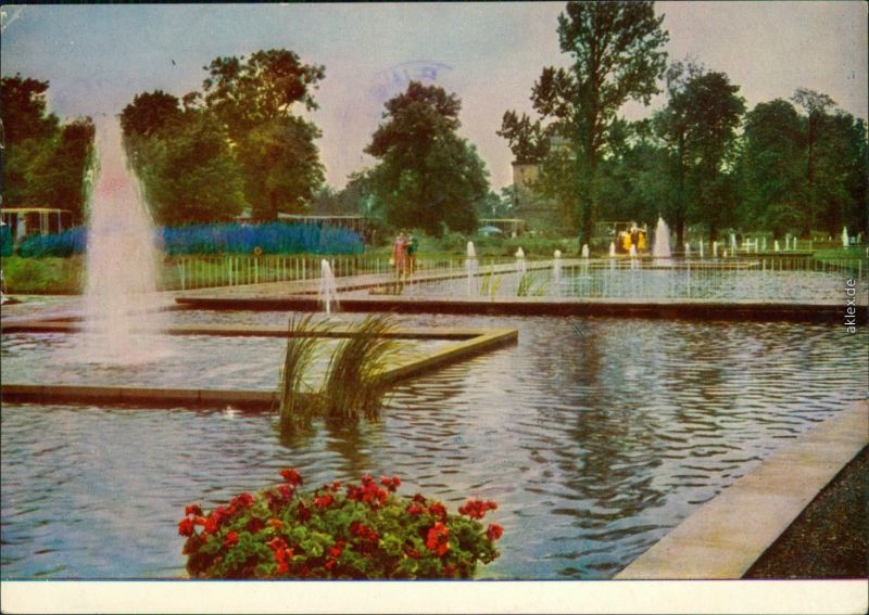Erfurt Internationale Gartenbauausstellung der DDR (IGA): Springbrunnen  x 1961
