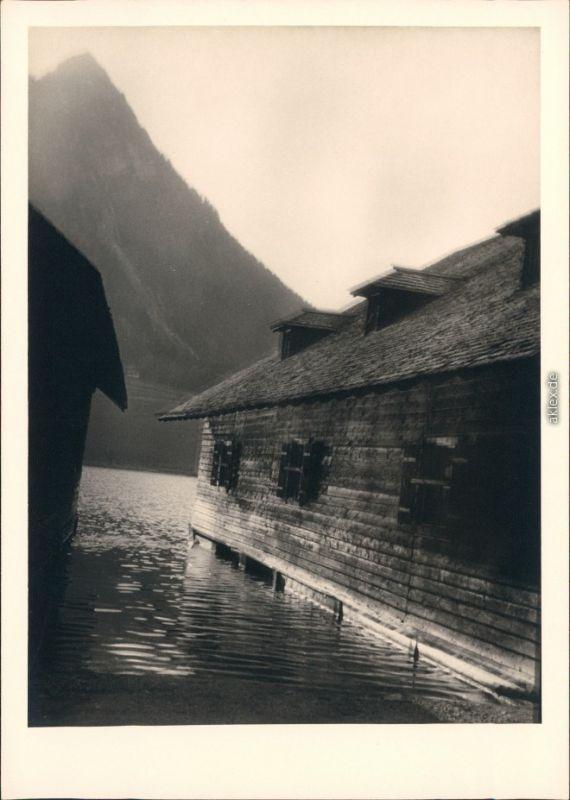 Schönau am Königssee Bootshäuser am Königssee 1954 Privatfoto