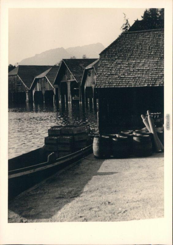 Schönau am Königssee Bootshäuser am Königssee 1954 Privatfoto nr 2