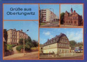 Oberlungwitz Robert-Koch-Straße, Rathaus, Humboldt-Oberschule 1988