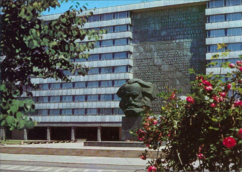 Zentrum Chemnitz Karl-Marx-Stadt Karl-Marx-Monument 1986