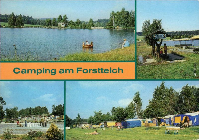 Lindenau-Schneeberg (Erzgebirge) Camping am Forstteich 1987 Nr ...