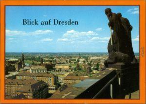 Dresden Überblick über die Stadt vom Rathausturm nach Dresden-Neustadt 1986