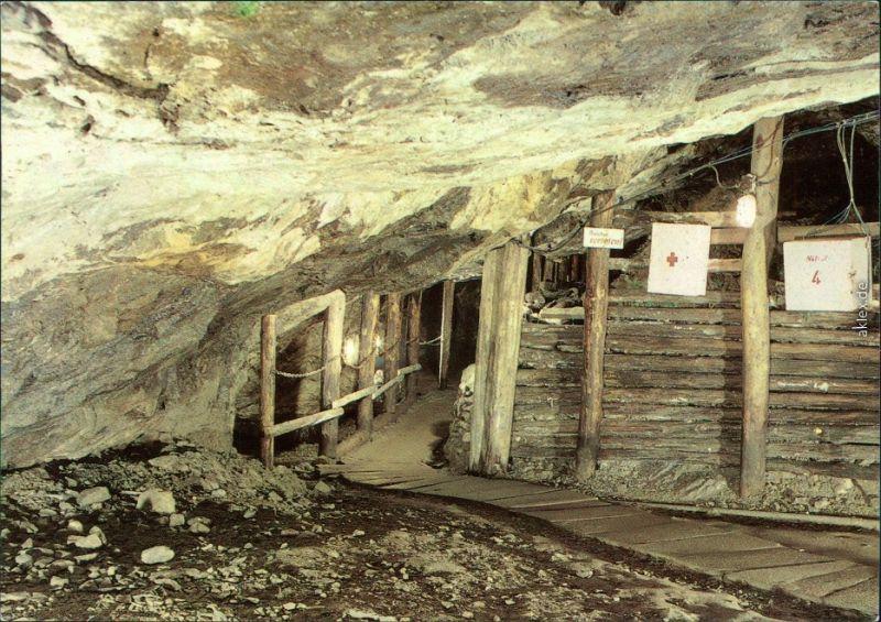 Waschleithe Grünhain Beierfeld Schaubergwerg Frisch-Glück Durchgang am See 1986