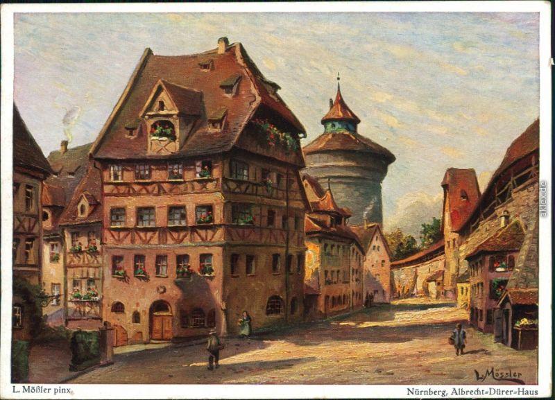 Nürnberg Albrecht-Dürer-Haus  Ludwig Mößler Rothenburg o.d.T. 1940