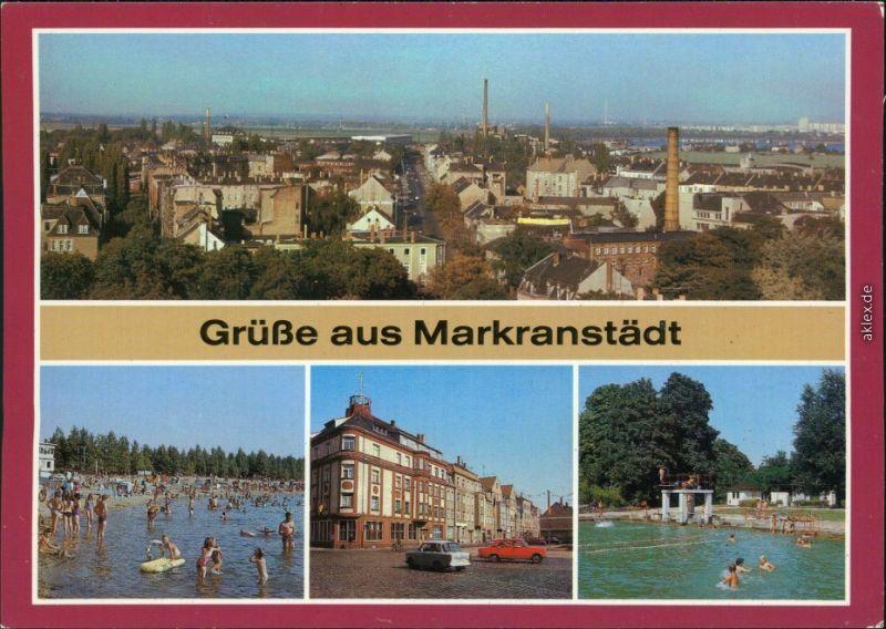 Markranstädt Übersicht, Kulkwitzer See, Zwenkauer Straße, Freibad xx 1985
