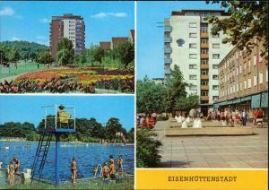 Eisenhüttenstadt Stalinstadt  Diehloer Straße, Schwimmbad, Leninallee 1979