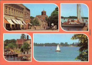 Storkow (Mark) Altstadt, Am Storkower See  Schleuse mit Segelboot 1986