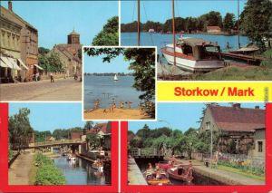 Storkow (Mark) Altstadt, Am Storkower See (2), Am Kanal, An der Schleuse 1981