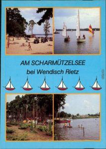 Wendisch Rietz Strand Schwarzhorn, Windsurfer Campingplatz, Scharmützelsee 1985