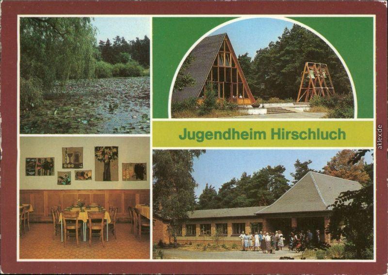 Storkow (Mark) Jugendheim Hirschluch Weiher, Kapelle, Speiseraum Begegnung 1985