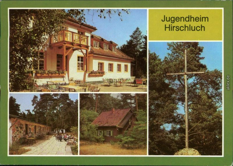 Storkow (Mark) Haus Güldene Sonne, Waldhütte, Vogelbauer, Hirschluchkreuz 1985